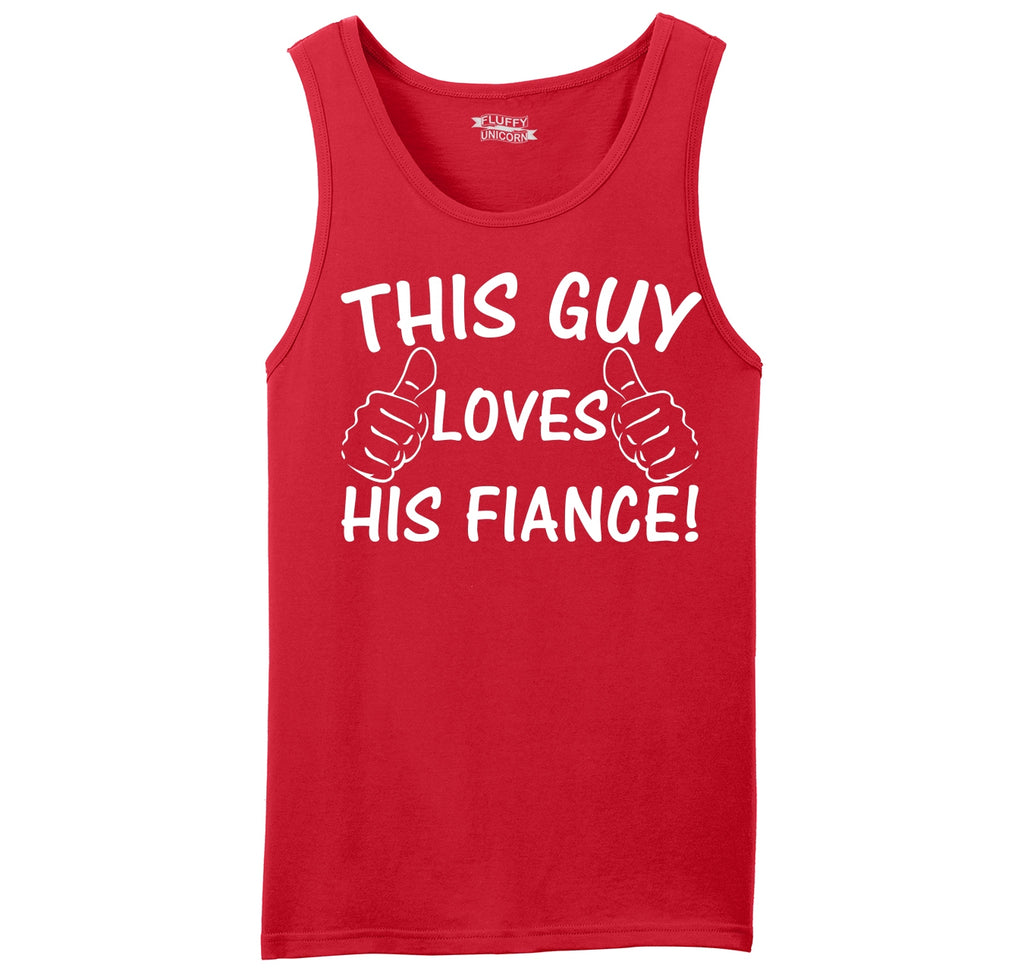 This Guy Loves His Fiance Mens Sleeveless Tank Top