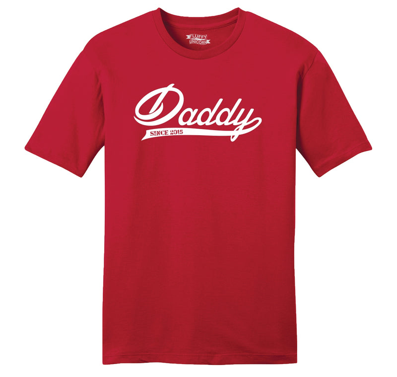 Daddy Since 2015 Mens Ringspun Cotton Tee Shirt