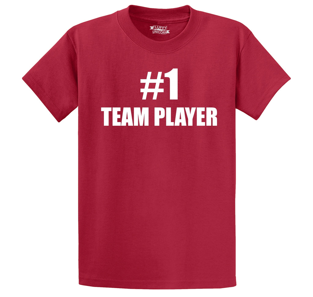 # 1 Team Player Men's Heavyweight Cotton Tee Shirt