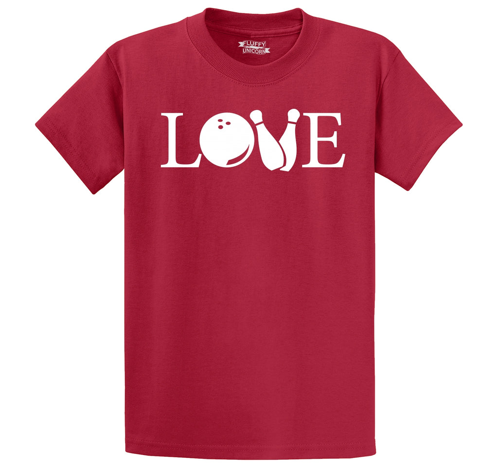 Love Bowling Men's Heavyweight Cotton Tee Shirt