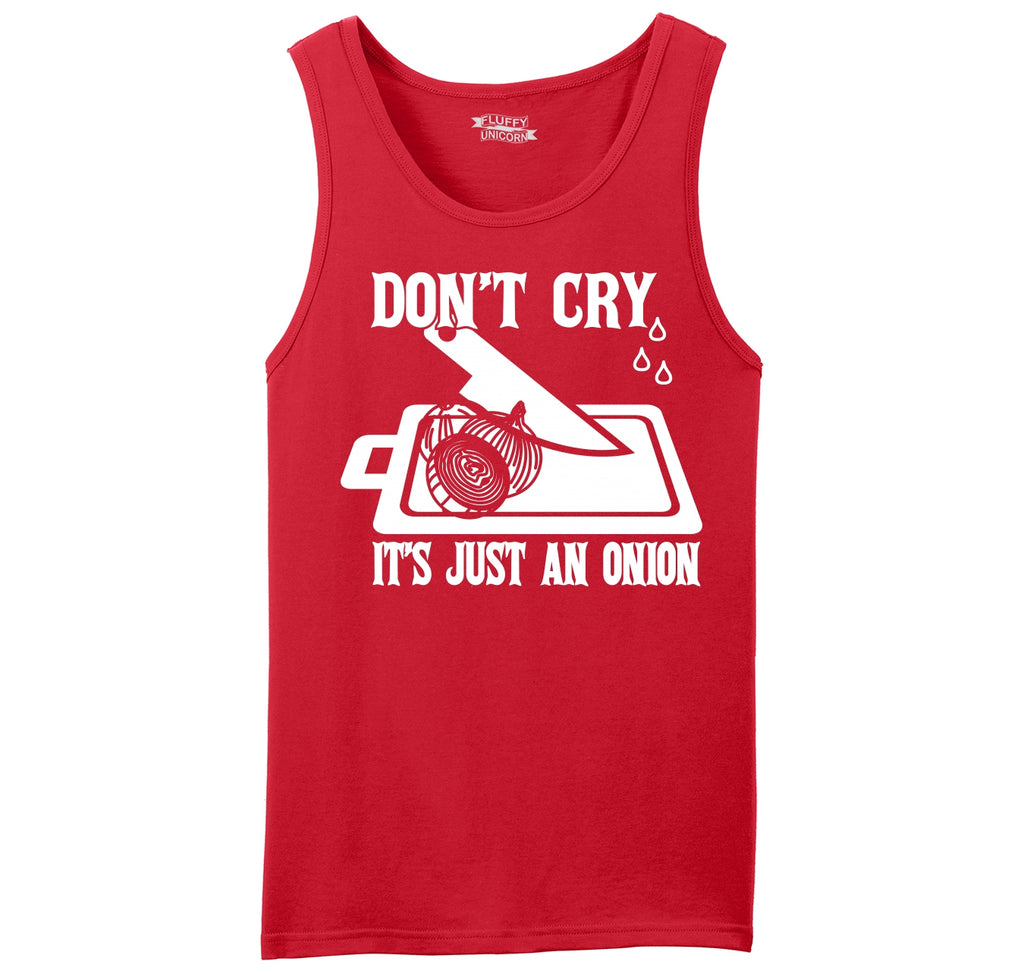 Don't Cry It's Just An Onion Mens Sleeveless Tank Top