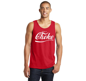 Enjoy A Choke Parody Mens Sleeveless Tank Top