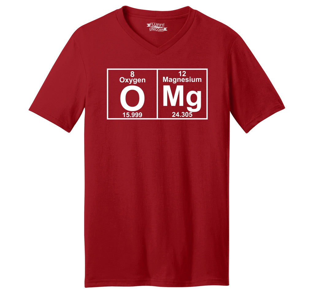 OMG Periodic Table Of Elements Mens Short Sleeve Ringspun V Neck