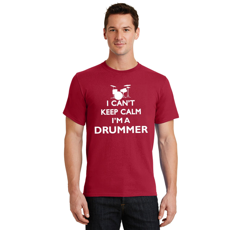 Are you a drummer? Do you know a drummer? You should understand the difficulties with keeping calm! Men's Heavyweight Big & Tall Cotton Tee Shirt