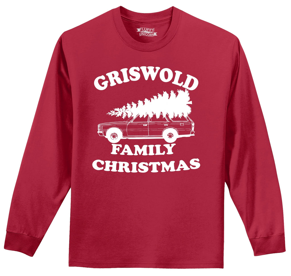 Griswold Family Christmas Mens Long Sleeve Tee Shirt