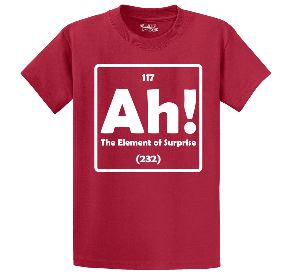 Ah! The Element Of Surprise Men's Heavyweight Cotton Tee Shirt