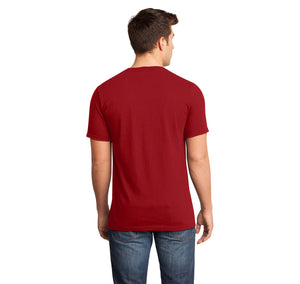 College Mens Short Sleeve Ringspun V Neck