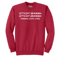 Lets Eat Grandma Let's Eat Grandma Grammar Crewneck Sweatshirt