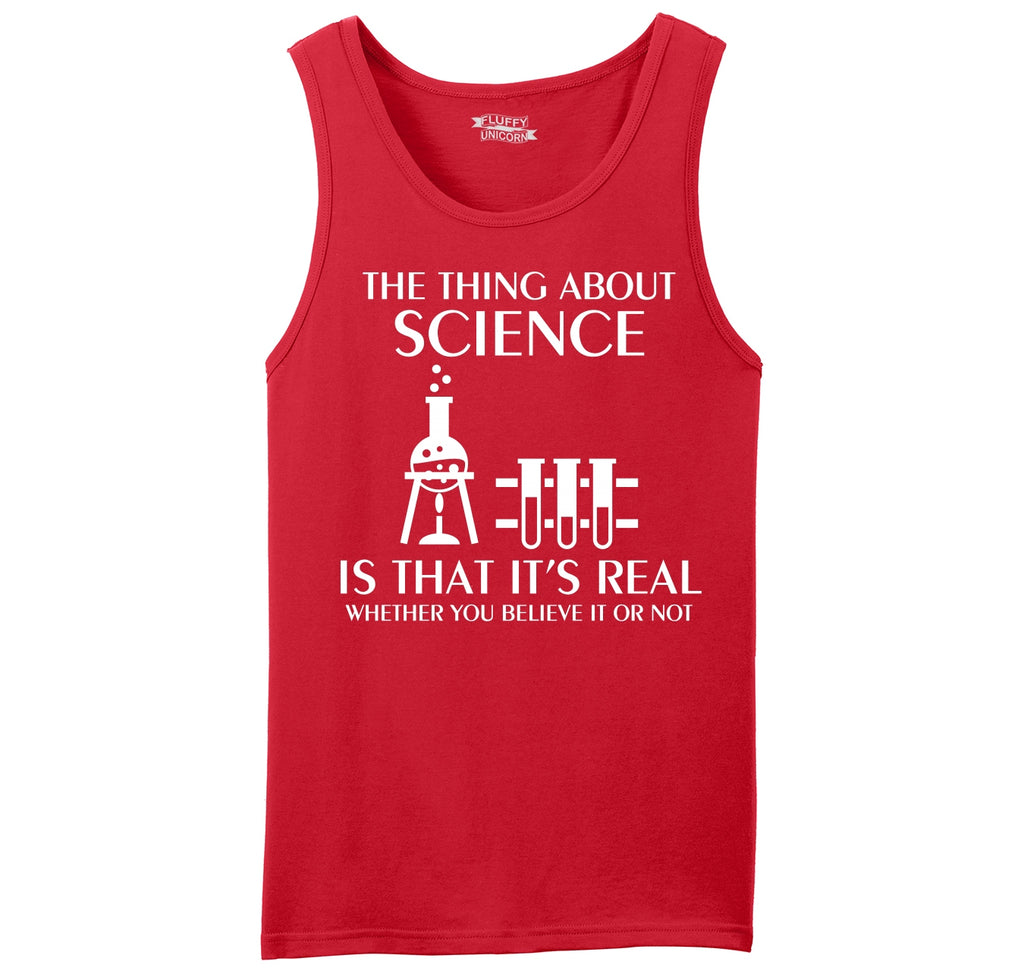 Science Is Real Mens Sleeveless Tank Top