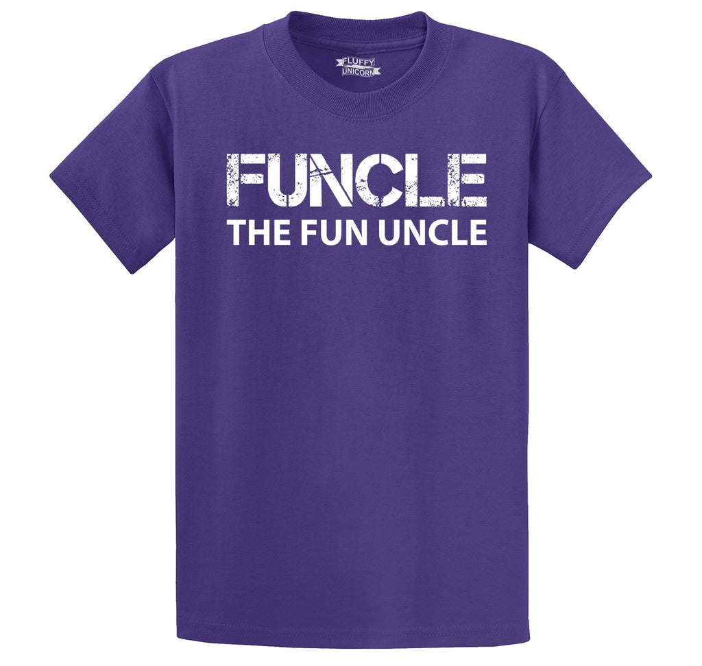 Funcle Fun Uncle Funny Tee Uncle Brother Gift Tee Men's Heavyweight Cotton Tee Shirt