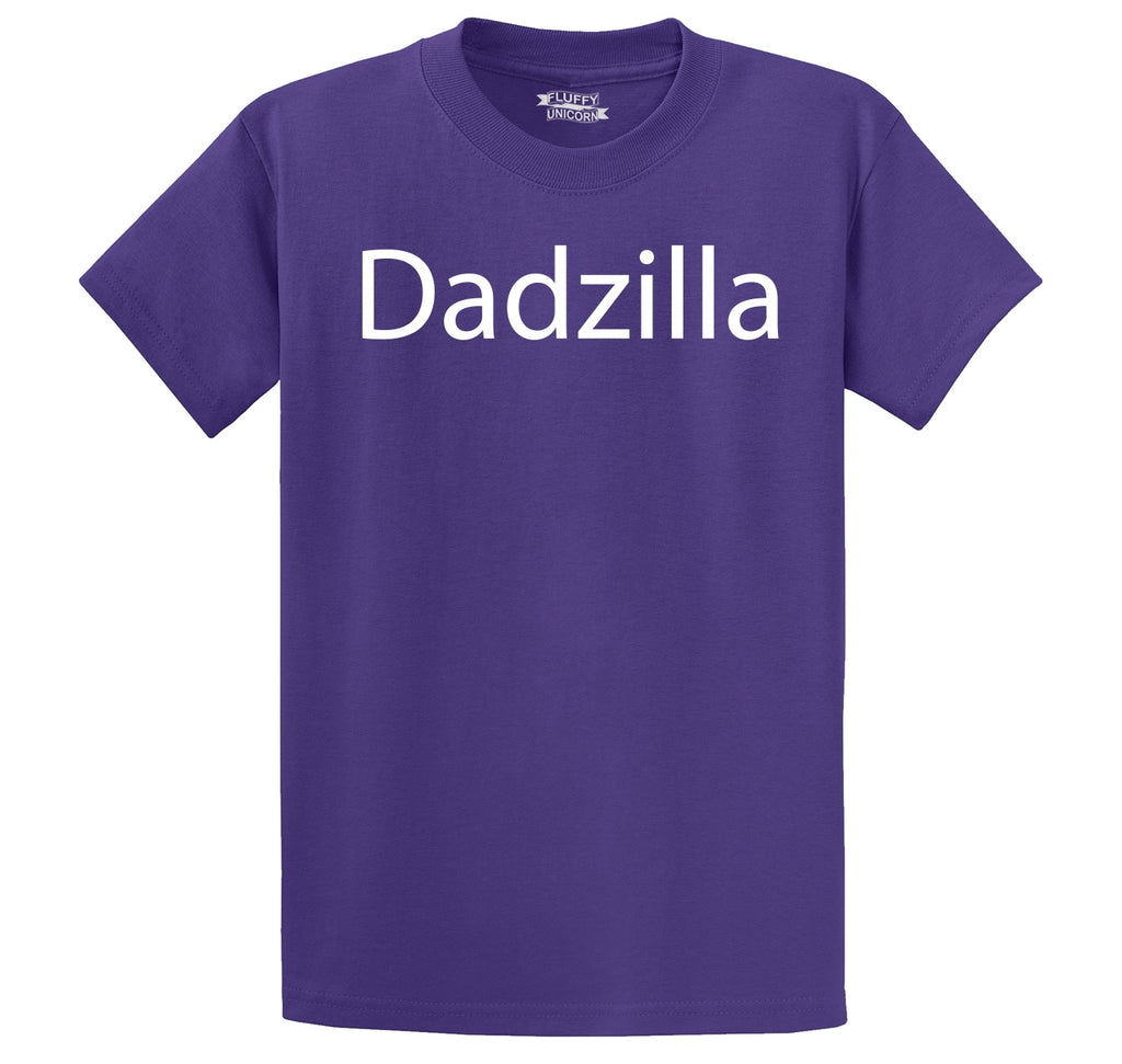Dadzilla Tee Father's Day Valentine's Day Husband Dad Gift Tee Men's Heavyweight Cotton Tee Shirt