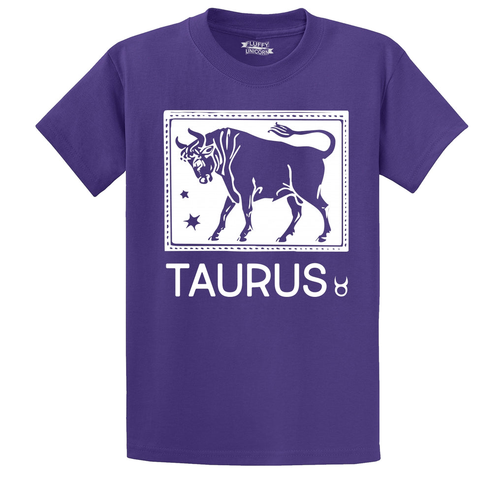 Taurus Horoscope Men's Heavyweight Cotton Tee Shirt