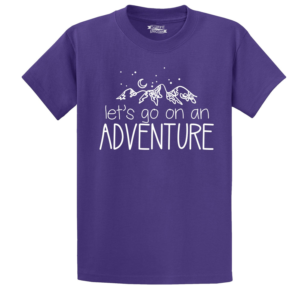 Lets Go On An Adventure Men's Heavyweight Cotton Tee Shirt