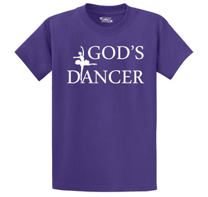 God's Dancer Men's Heavyweight Cotton Tee Shirt