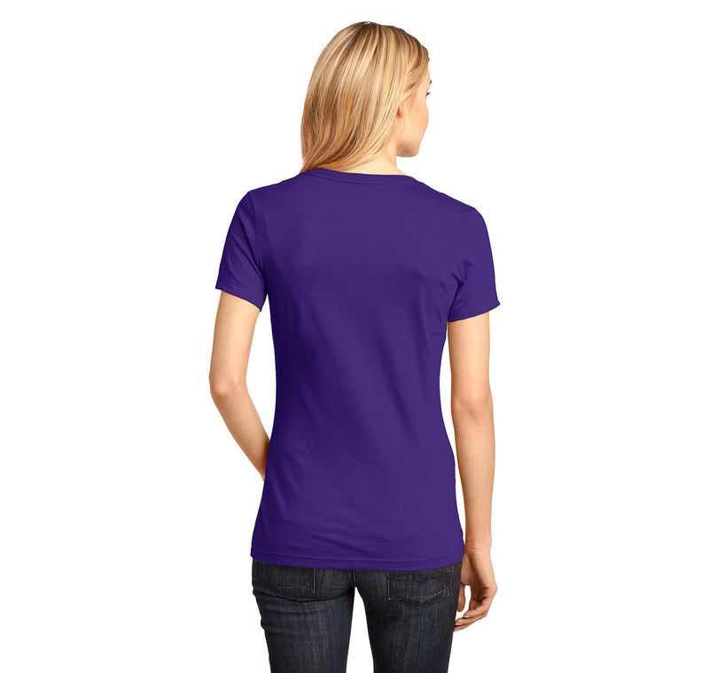 Runner - Periodic Table Of Elements Ladies Ringspun V-Neck Tee