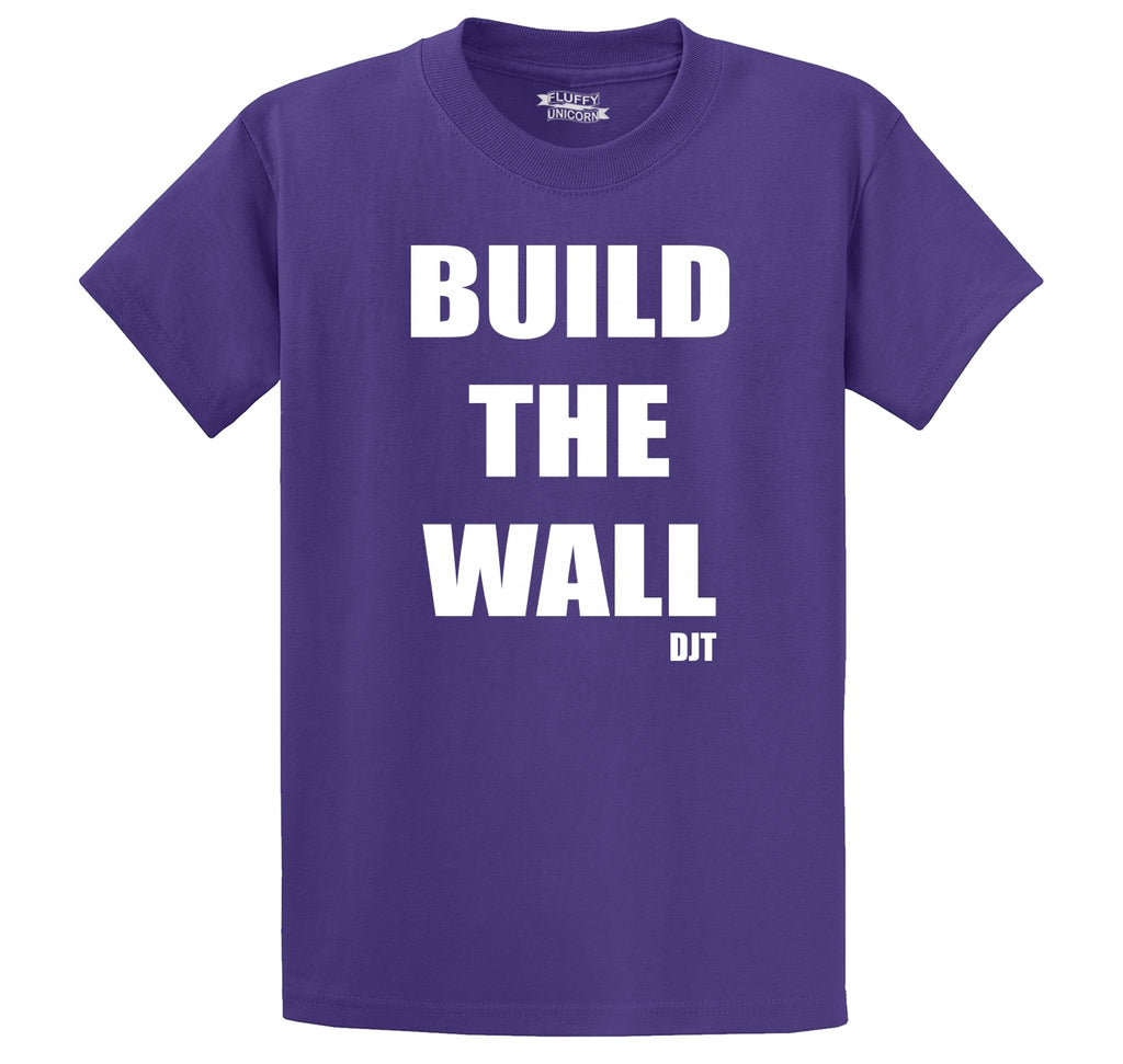 Build The Wall DJT Men's Heavyweight Cotton Tee Shirt
