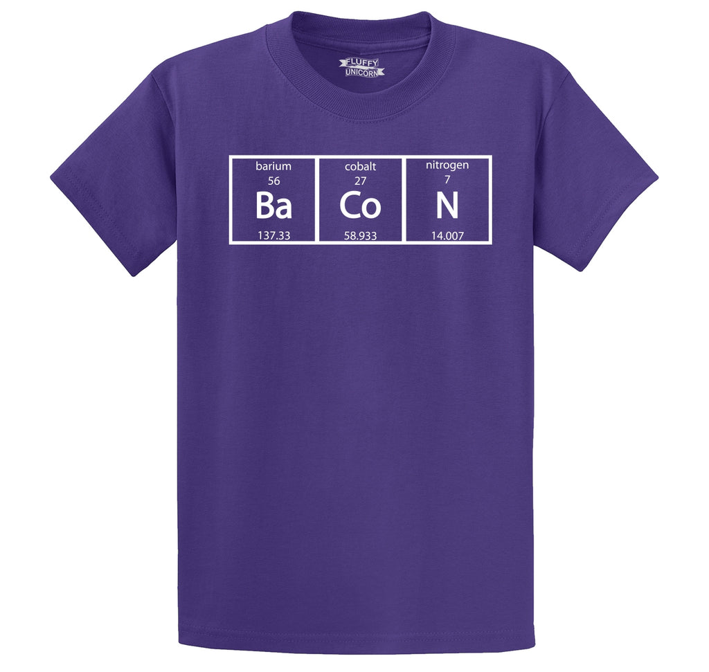 Bacon Periodic Table Men's Heavyweight Cotton Tee Shirt