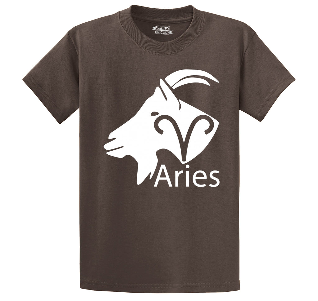 Aries Horoscope Shirt, March April Birthday Gift Tee Men's Heavyweight Cotton Tee Shirt