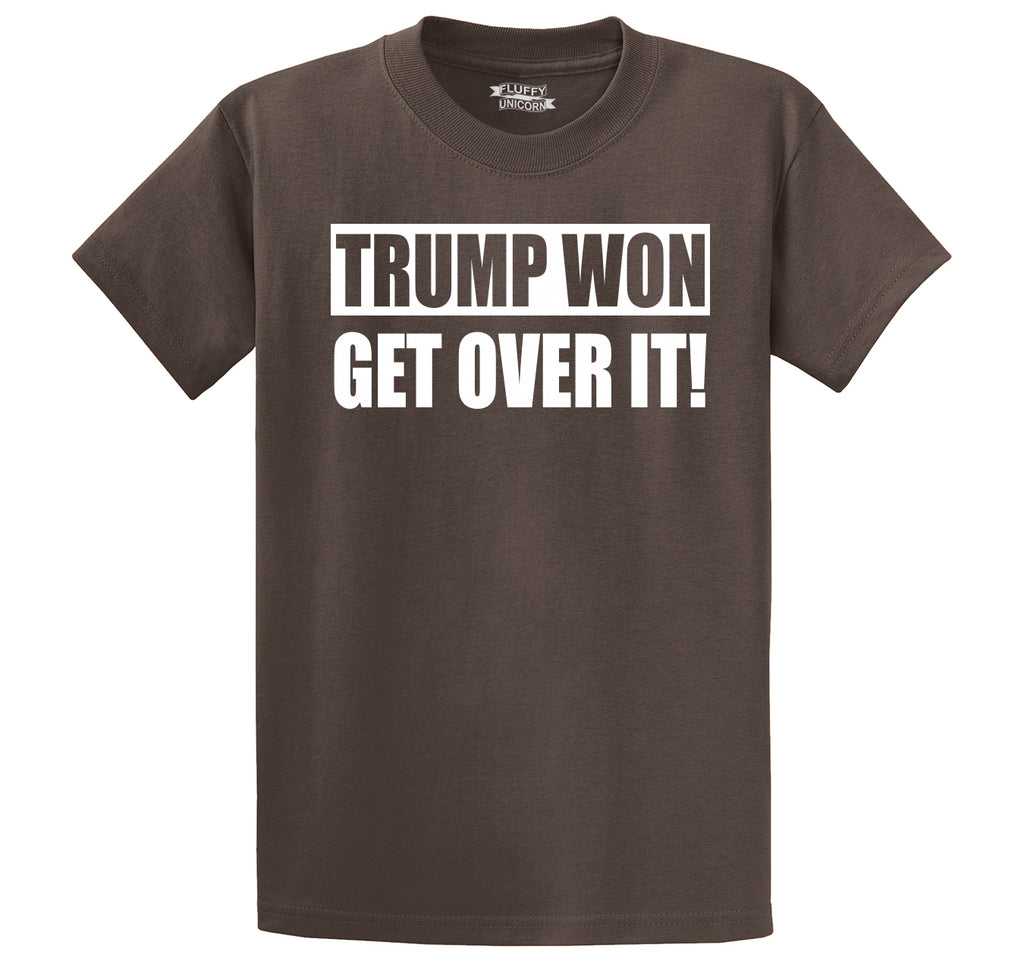 Trump Won Get Over It Tee Republican Political Trump Tee Men's Heavyweight Cotton Tee Shirt
