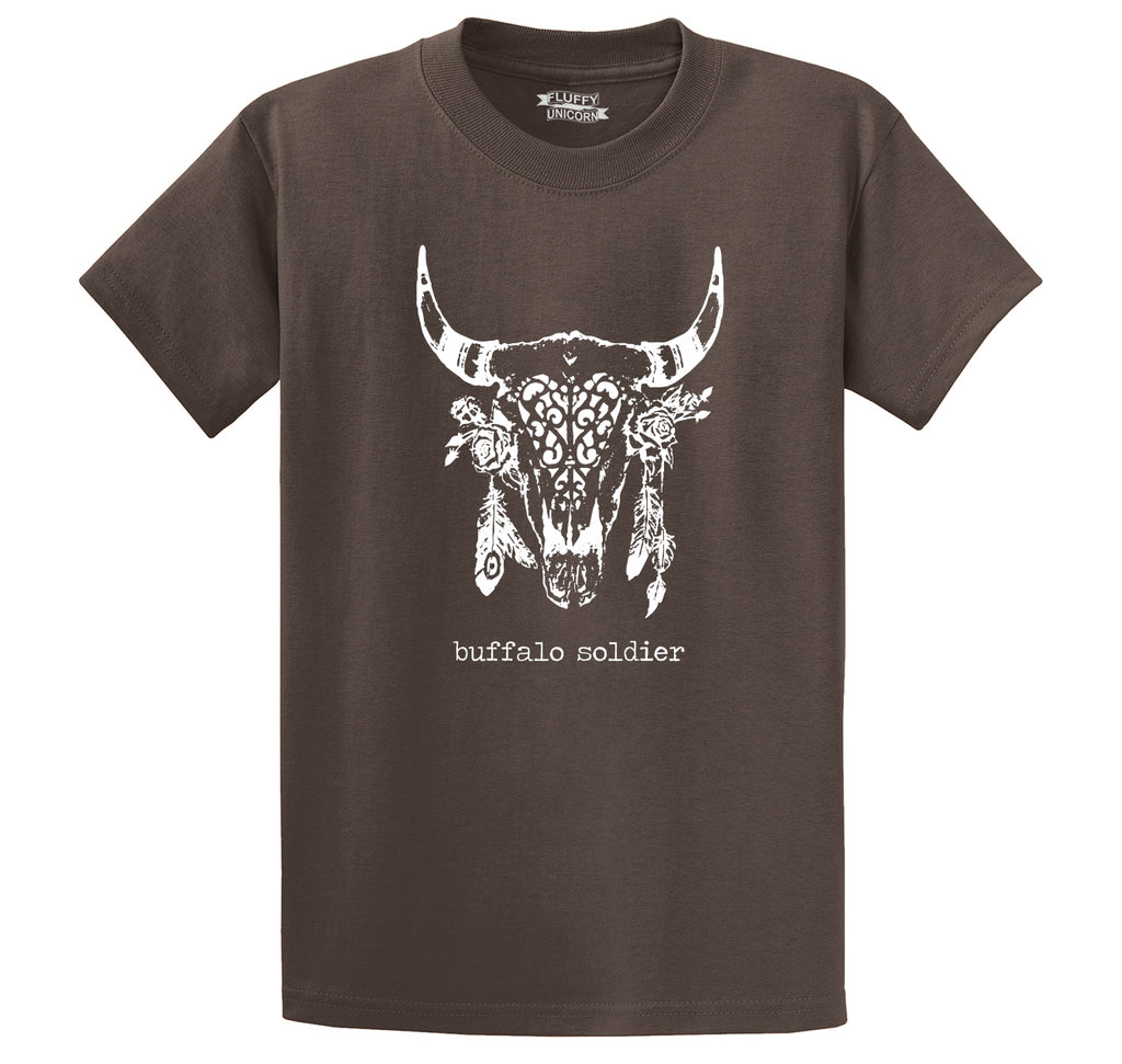 Buffalo Soldier T Shirt Hippie Stoner Music Tee Men's Heavyweight Cotton Tee Shirt