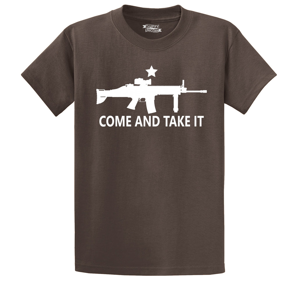 Come And Take It T Shirt Gun Lover Ar15 Rights 2nd Amendment Gift Tee Men's Heavyweight Cotton Tee Shirt