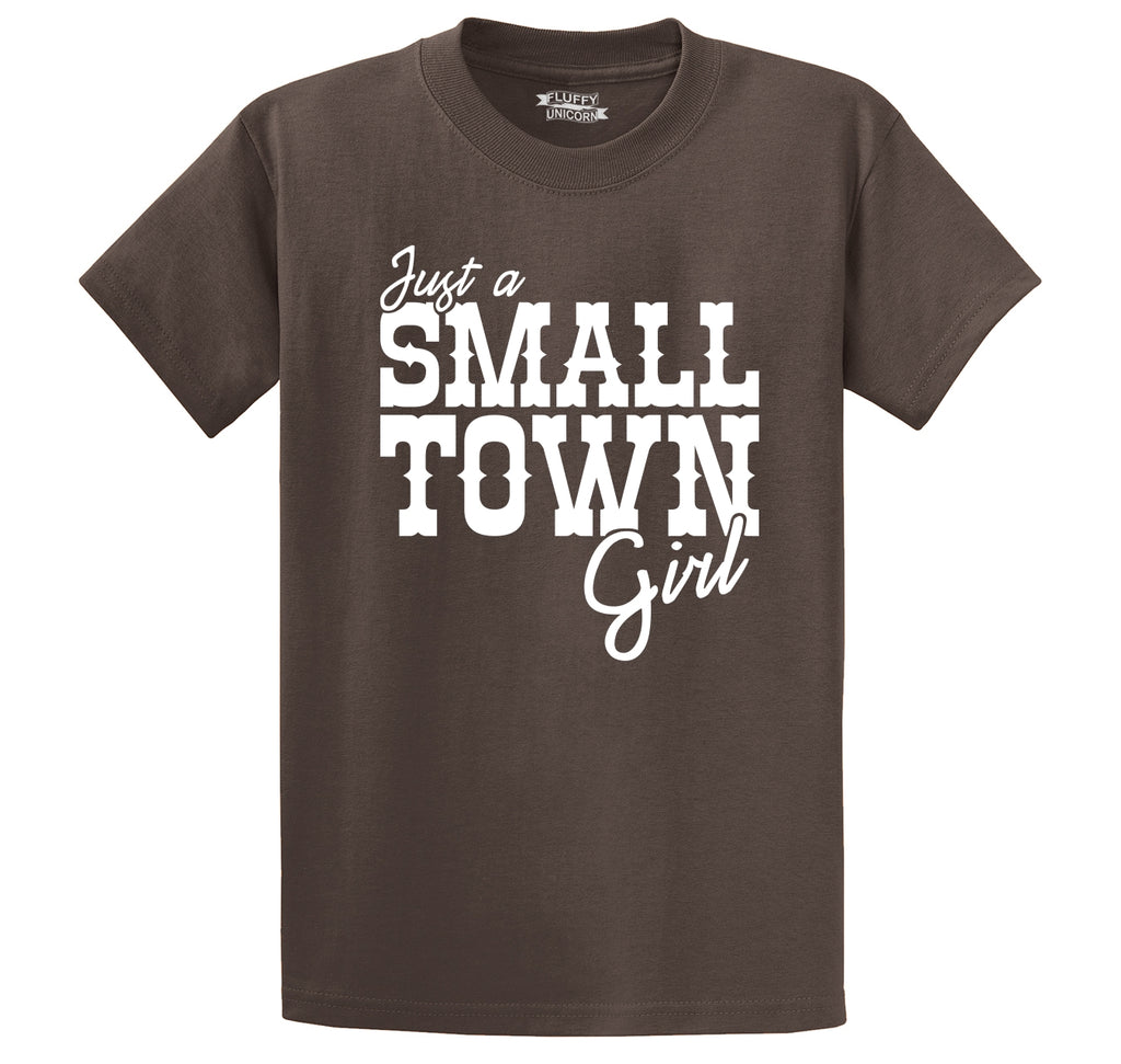 Just A Small Town Girl Cute Country Tee Men's Heavyweight Cotton Tee Shirt