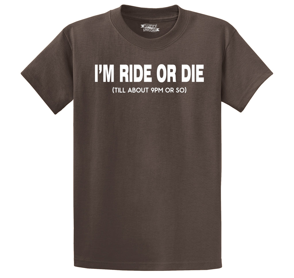 I'm Ride Or Die Till 9PM Men's Heavyweight Cotton Tee Shirt