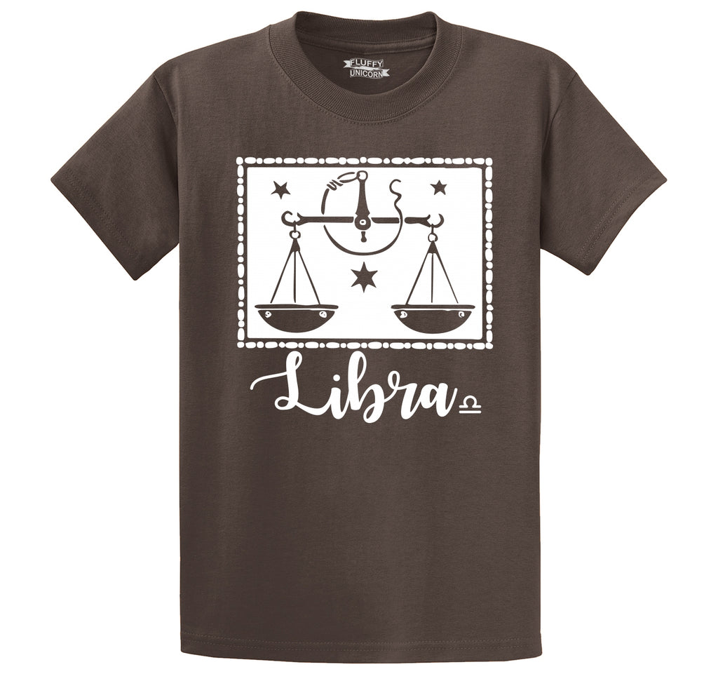 Libra Horoscope Men's Heavyweight Cotton Tee Shirt