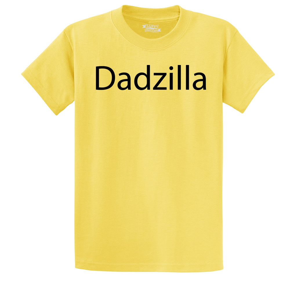 Dadzilla Tee Father's Day Valentine's Day Husband Dad Gift Tee Men's Heavyweight Big & Tall Cotton Tee Shirt