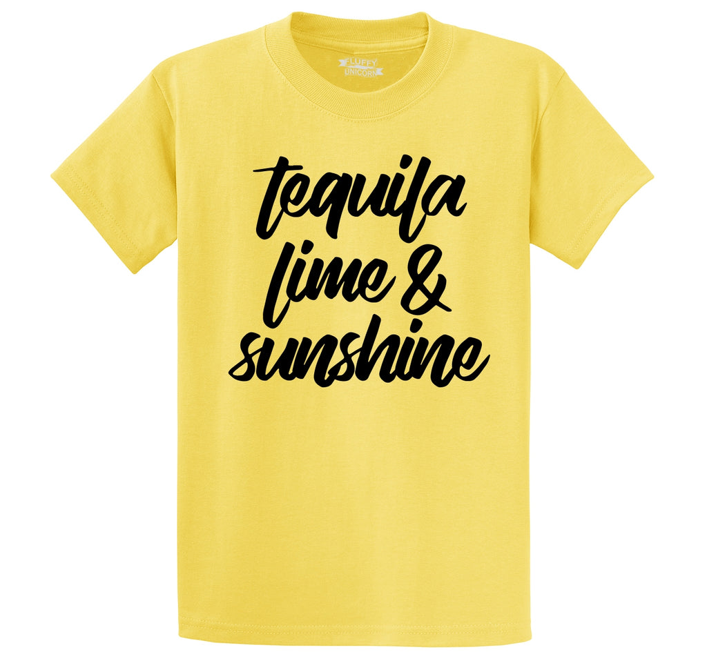 Tequila Lime and Sunshine Men's Heavyweight Cotton Tee Shirt