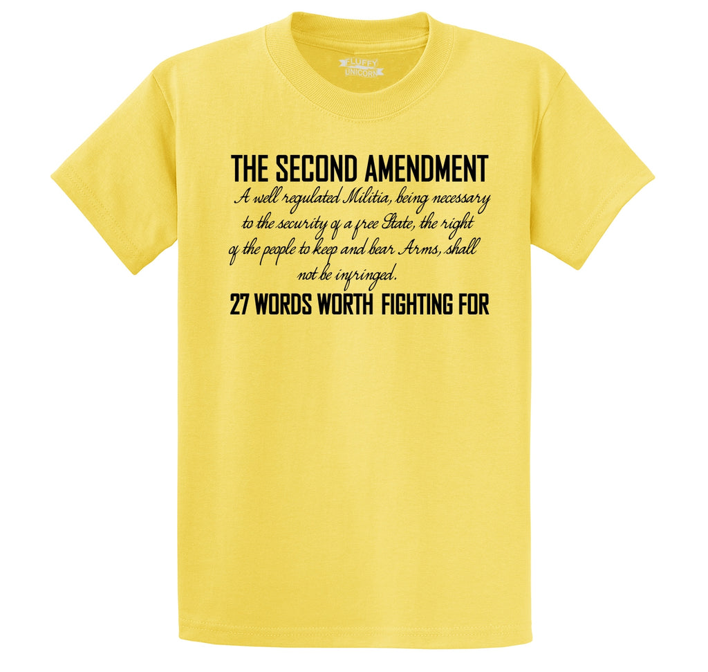 The Second Amendment Words Worth Fighting For Men's Heavyweight Cotton Tee Shirt