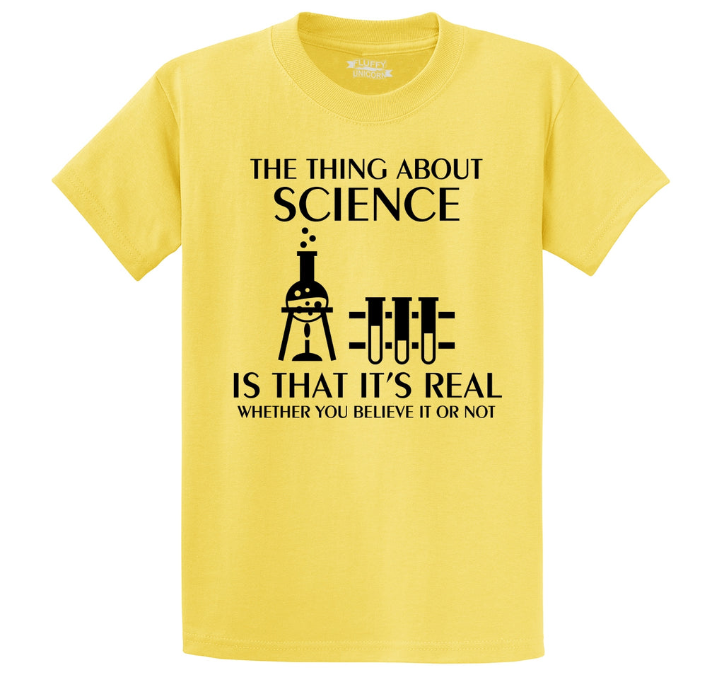 Science Is Real Men's Heavyweight Cotton Tee Shirt