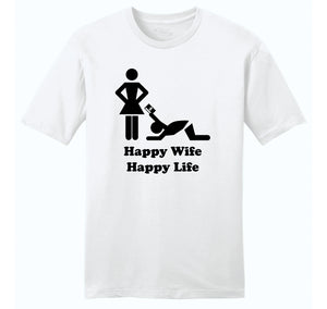 Happy Wife Happy Life - Credit Card Mens Ringspun Cotton Tee Shirt