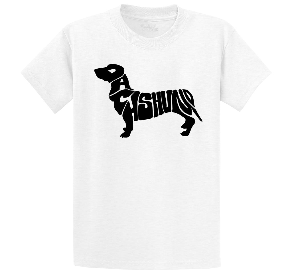 Dachshund Men's Heavyweight Big & Tall Cotton Tee Shirt