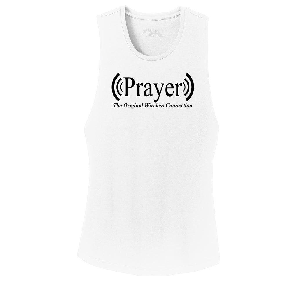 Prayer The Original Wireless Connection Ladies Festival Tank Top