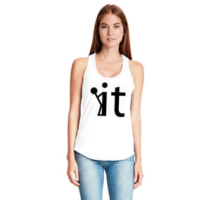 Screw It Fuck It Ladies Gathered Racerback Tank Top