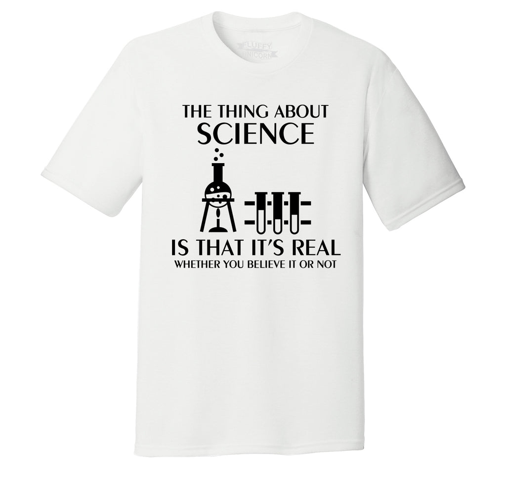 Science Is Real Mens Short Sleeve Tri-Blend Shirt
