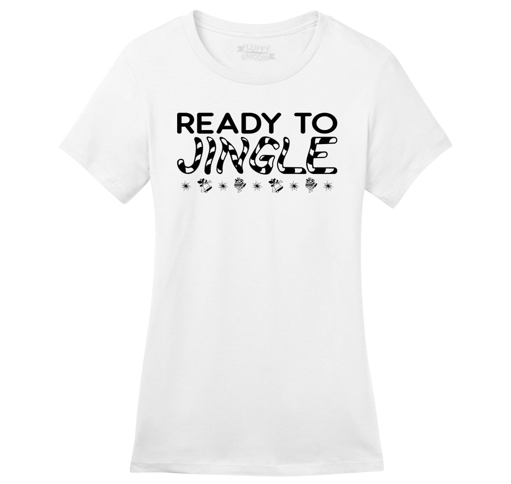 Ready To Jingle Ladies Ringspun Short Sleeve Tee