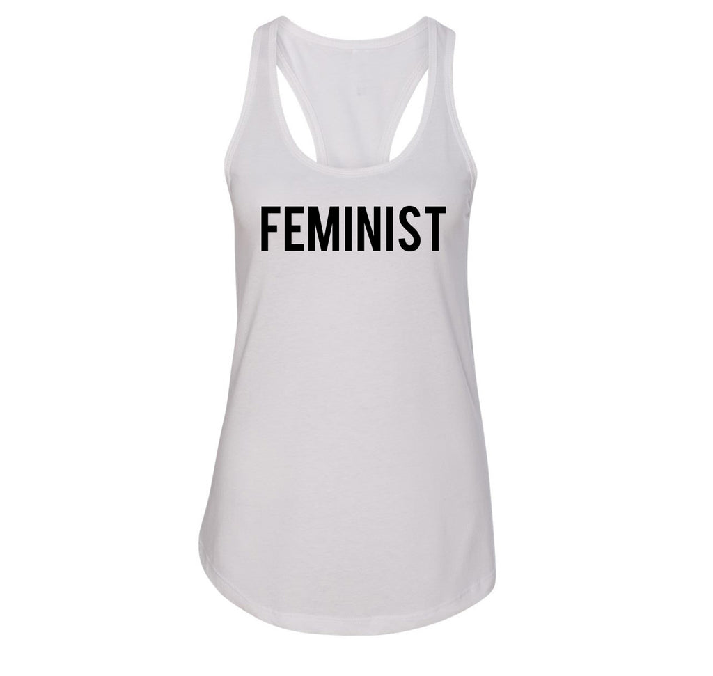 Feminist T Shirt Woman Rights Political Protest Tee Ladies Racerback Tank Top