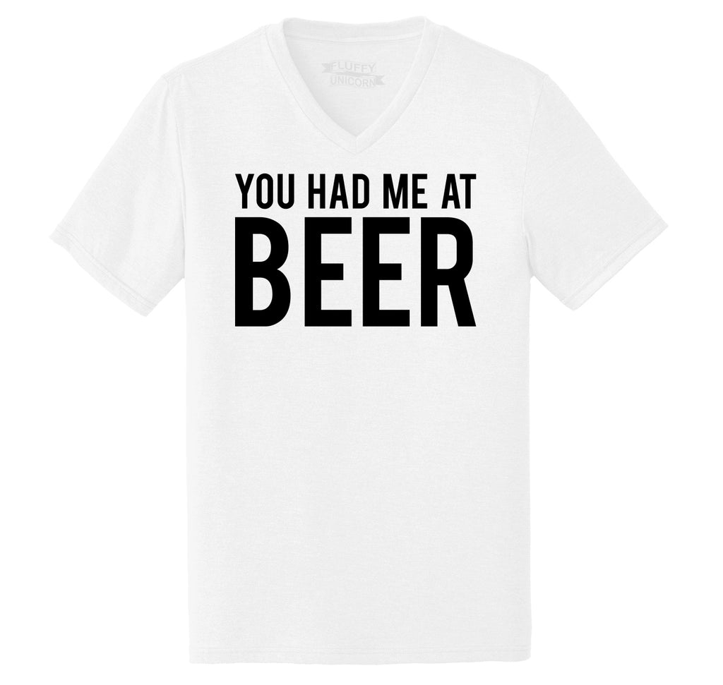 You Had Me At Beer St Patty's Day Tee Mens Tri-Blend V-Neck Tee Shirt