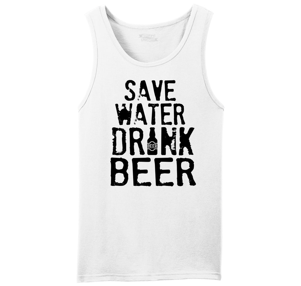 Save Water Drink Beer Mens Sleeveless Tank Top