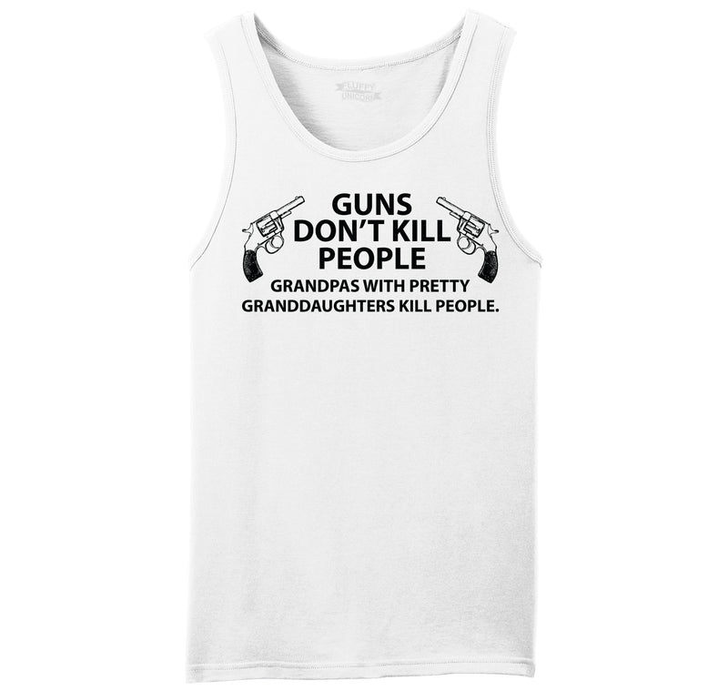Guns Don't Kill People Grandpas Mens Sleeveless Tank Top