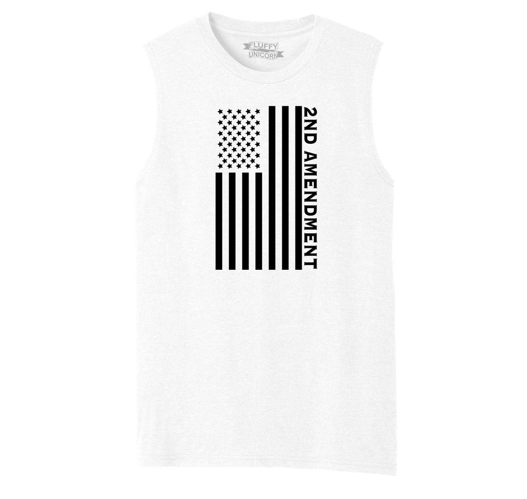 Second Amendment American Flag Graphic Tee Patriotic Gun Rights Tee Mens Muscle Tank Muscle Tee
