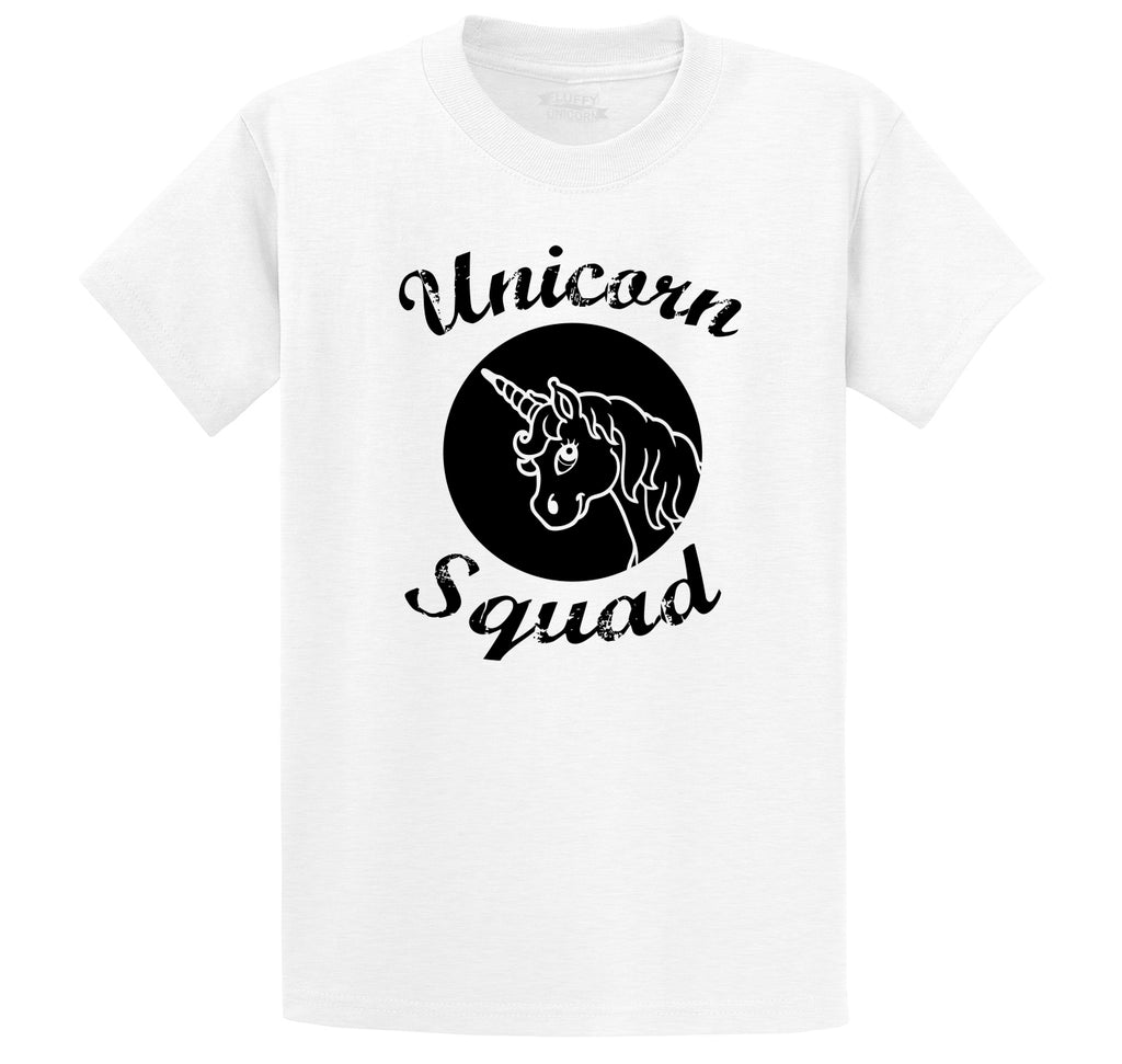 Unicorn Squad Cute Team Bridesmaids Dance Crew Shirt Men's Heavyweight Big & Tall Cotton Tee Shirt