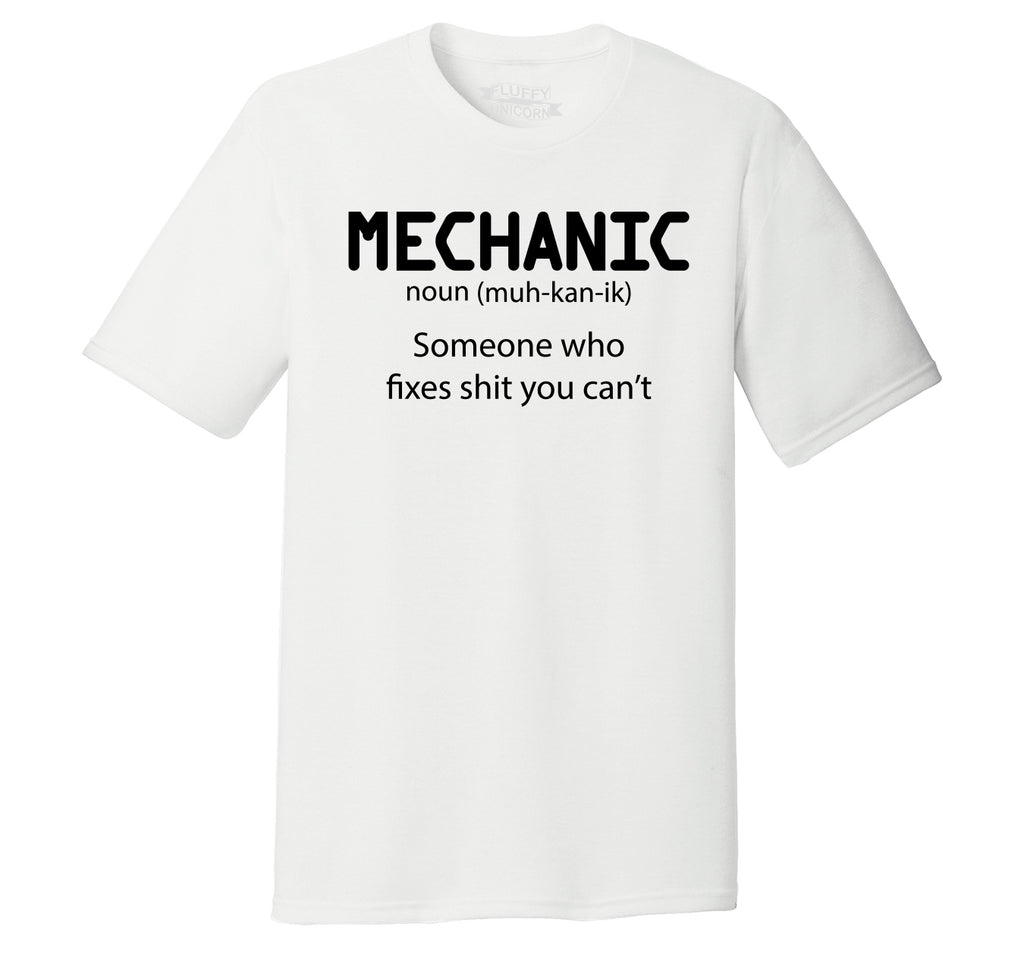 Mechanic Someone Who Fixes Shirt You Can't Mens Short Sleeve Tri-Blend Shirt