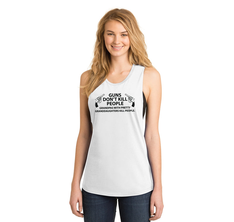 Guns Don't Kill People Grandpas Ladies Festival Tank Top