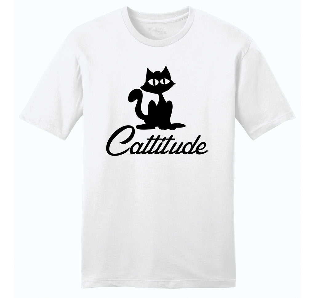 Cattitude Mens Ringspun Cotton Tee Shirt