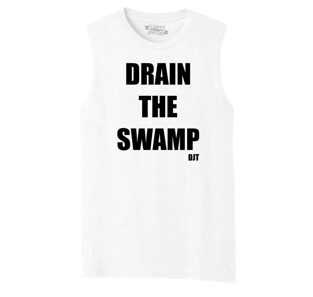 Drain The Swamp DJT Mens Muscle Tank Muscle Tee
