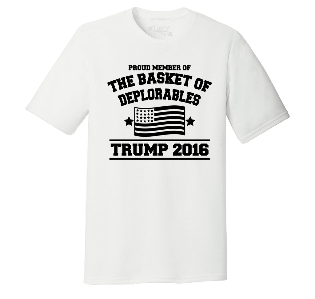 Proud Member Of Basket Of Deplorables Anti Hillary Political Shirt Mens Short Sleeve Tri-Blend Shirt