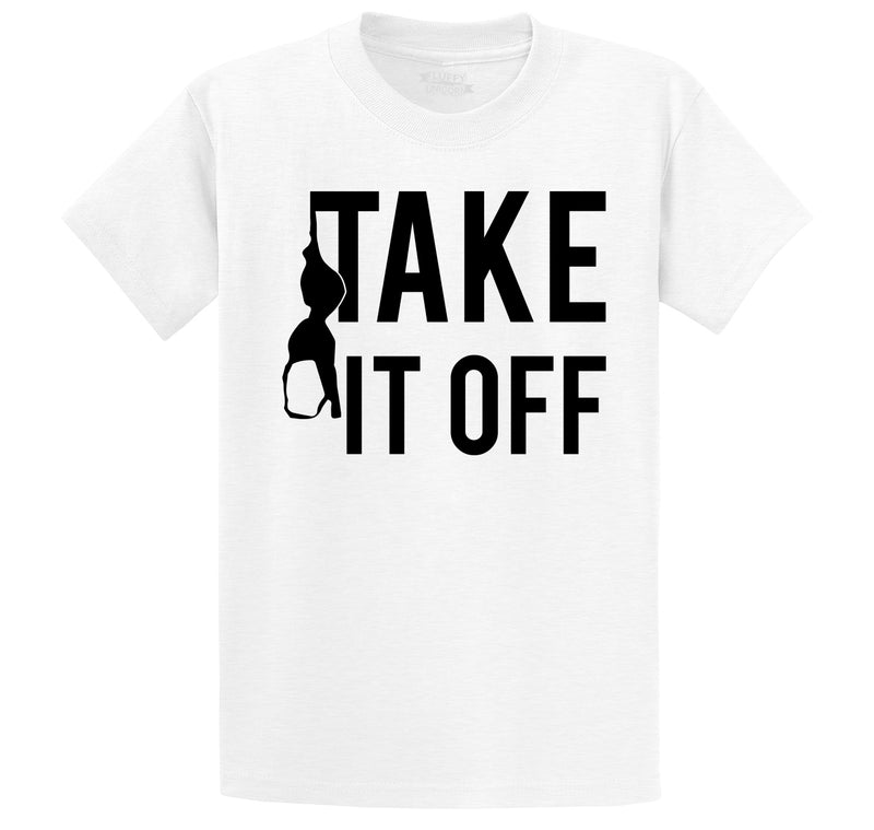 Take It Off Funny Sexual Pool Party Shirt Men's Heavyweight Cotton Tee Shirt
